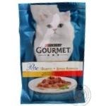 Корм Gourmen Perle Duo для котів з куркою та яловичиною 85г