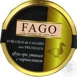 Паштет Fago Фуа-гра утиная с черносливом 180г