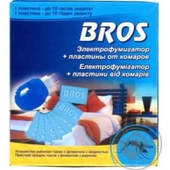 Електрофумігатор Bros 10 пластин проти комарів