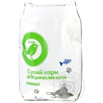 Auchan Dry Сats Food With Fish 2,5kg - buy, prices for Auchan - image 3