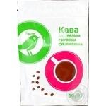 Кофе Ашан растворимый натуральный с кофеином сублимированный 50г