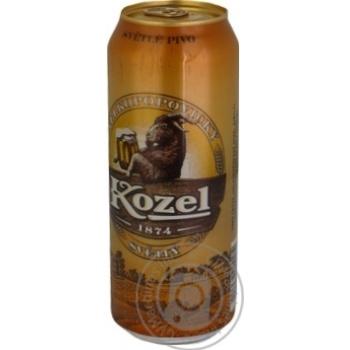 Пиво Velkopopovicky Kozel светлое ж/б 4% 0,5л