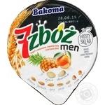Йогурт Bakoma 7 злаков ананас, мандарин, злаки, семена подсолнечника и тыквы 2.5% 300г