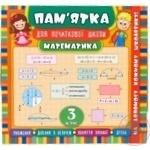 Памятка для начальной школы Математика 3 клас