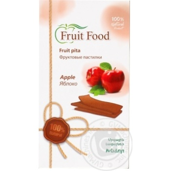 Fruit food Fruit pastila from apples 90g