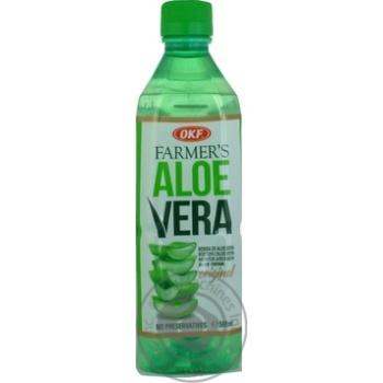Напиток OKF на основе алоэ вера безалкогольный негазированный 0,5л - купить, цены на Метро - фото 1