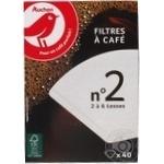 Фильтр Ашан для кофе 40шт - купить, цены на Ашан - фото 1