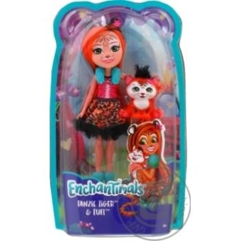 Кукла Enchantimals Тигренок Тензи - купить, цены на Novus - фото 1