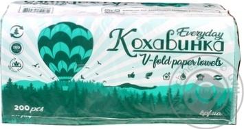 Полотенце бумажное Кохавинка Z-Z 200 листов цвет в ассортименте - купить, цены на МегаМаркет - фото 1