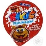 Десерт молочный Bakoma шоколадно-ореховый 100г