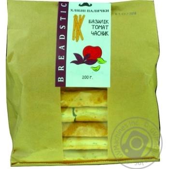 Хлебные палочки Breadsticks с чесноком, помидорами и базиликом 200г