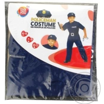 Костюм One Two Fun Полицейский детский