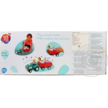 Трактор музыкальный Baby с животными - купить, цены на Ашан - фото 2