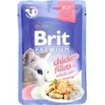 Корм консервированный Brit Premium филе курицы в желе для котов 85г