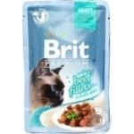 Корм консервированный Brit Premium с филе говядины в соусе для котов 85г