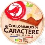 Сир Ашан Le Coulommiers de Caractere м'який 50% 350г