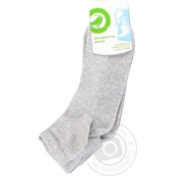Носки Ашан для мальчика серые 20-22р - купить, цены на Ашан - фото 1