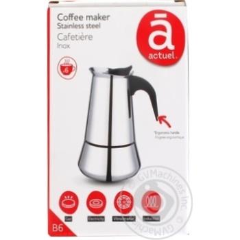 Кофеварка Actuel гейзерная на 6 чашек - купить, цены на Ашан - фото 1