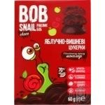 Bob Snail candy apple-cherry in black chocolate without sugar 60g - buy, prices for MegaMarket - image 1