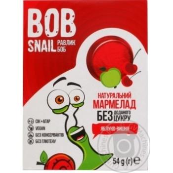 Мармелад Bob Snail яблуко-вишня без цукру 54г - купити, ціни на МегаМаркет - фото 1