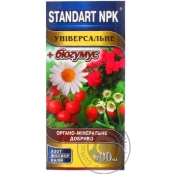 Удобрение Standart NPK органо-минеральное универсальное 0,5л