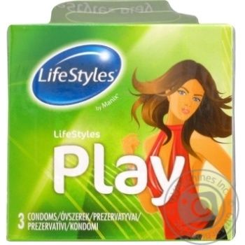 LifeStyles Play Latex Condoms 3pcs