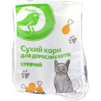 Сухий корм Ашан для дорослих котів курячий 400г - купить, цены на Ашан - фото 3