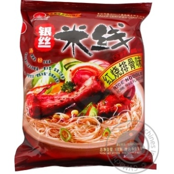 Hezhong noodles rice with fried ribs flavour 105g - buy, prices for Auchan - photo 1