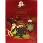Конфеты Halloren Рождественские звезды шоколадные с нугой в форме звезды 137г