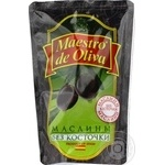 Maestro de Oliva pitted black olive 170g