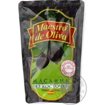 Maestro de Oliva pitted black olive 170g