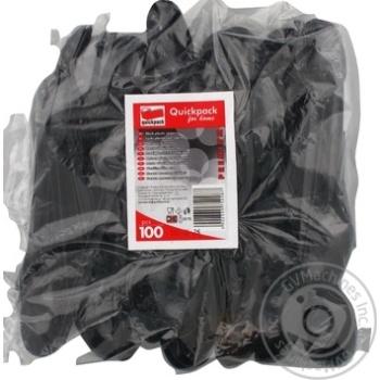 Qickpack Disposable spoons black 100pcs