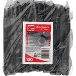 Ножі одноразові Quickpack чорні 100шт - купити, ціни на Метро - фото 1
