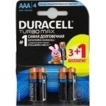 Батареї алкалінові Duracell Turbo AA 1.5V LR03 3+1шт безкоштовно