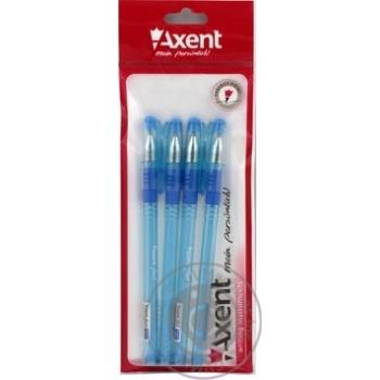 Ручка шариковая Axent Fest синяя 4шт