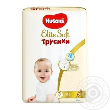 Трусики-подгузники Huggies Elite Soft mega 3 54шт