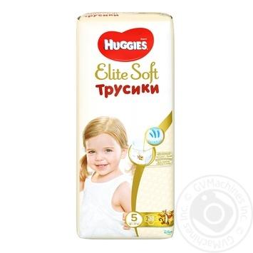 Трусики-подгузники Huggies Elite Soft mega 5 38шт - купить, цены на Novus - фото 1