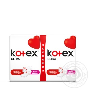 Прокладки Kotex Ультра Супер сеточка 16шт - купить, цены на Novus - фото 1