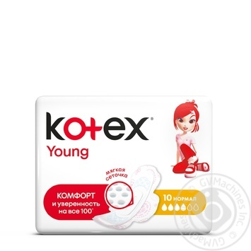 Kotex pads Young Normal mesh 10pcs - buy, prices for Novus - image 1