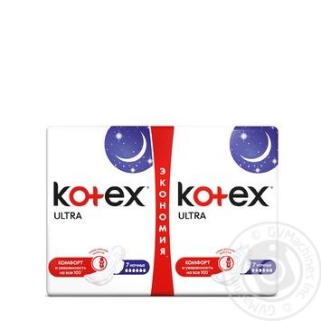 Kotex pads Ultra Night mash 14pcs - buy, prices for MegaMarket - image 1