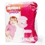 Трусики-подгузники Huggies Pants 6 Jumbo 15-25кг для девочек 30шт