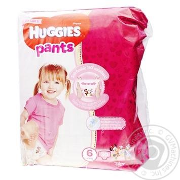 Трусики-подгузники Huggies Pants 6 Jumbo 15-25кг для девочек 30шт - купить, цены на Восторг - фото 1