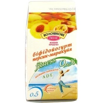 Йогурт Волошкове поле персик 500г Украина
