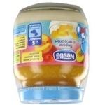 Puree peach for children