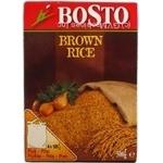 Groats rice Bosto short grain brown brown 4pcs 500g Belgium