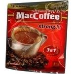 Instant coffee drink MacCofee Strong 3in1 with coffee extract stick 18g Singapore