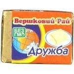 Продукт сирний Вершковий рай Дружба плавлений пастоподібний 55% 90г Україна