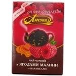 Чай Лісма малина чорне 75г Україна