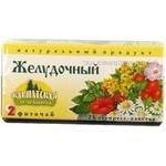 Фиточай Карпатская Лечебница 2 Желудочный из плодов растений и трав в пакетиках 25х0.8г