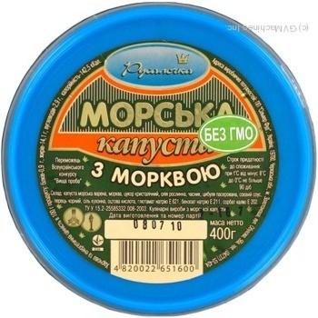 Салат морская капуста Русалочка с морковью 400г - купить, цены на Novus - фото 4